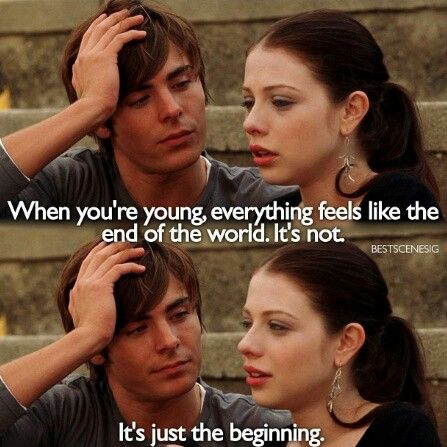 Great quote from 17 Again