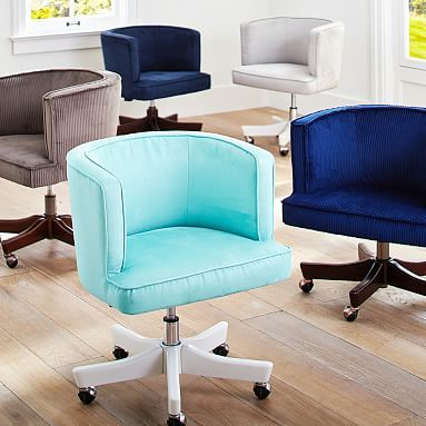 scoop swivel desk chair pbteen faux suede gray or navy bedroomravishing turquoise office chair armless cool
