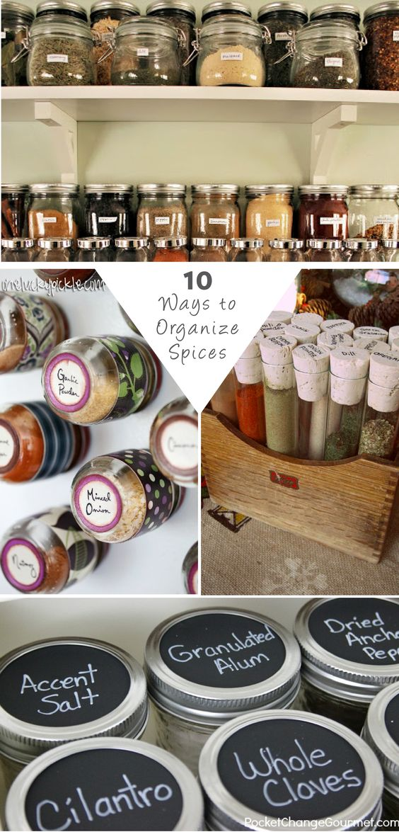Make cooking your favorite recipes a breeze by having an organized space. Click for some inspiring ideas for how to organize your spice cabinet!