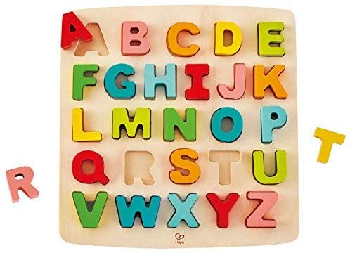 Alphabet ABC Numbers Kids Educational Toys Wooden Jigsaw Toddler Letter Puzzle