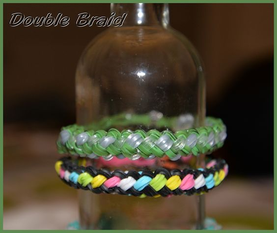 Double Braid loom armband bracelet