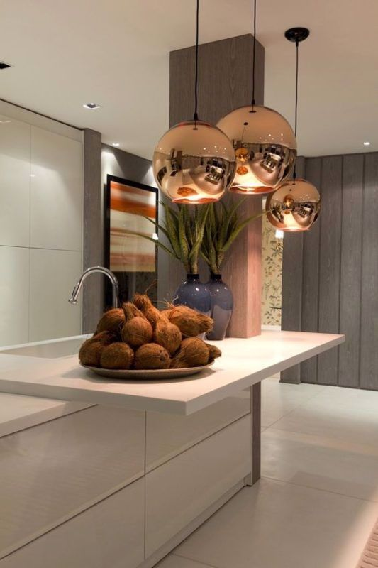 Galleria Foto Lampadari Moderni Di Design Foto 8 In 2020 Contemporary Kitchen Modern Kitchen Interiors Home Interior Design
