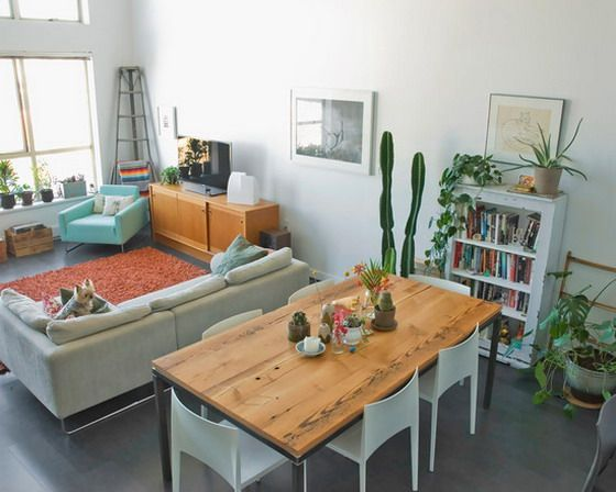 Love The Set Up In A Living Dining Shared Space Apartment Living Room Layout Small Apartment Living Room Layout Living Room Dining Room Combo