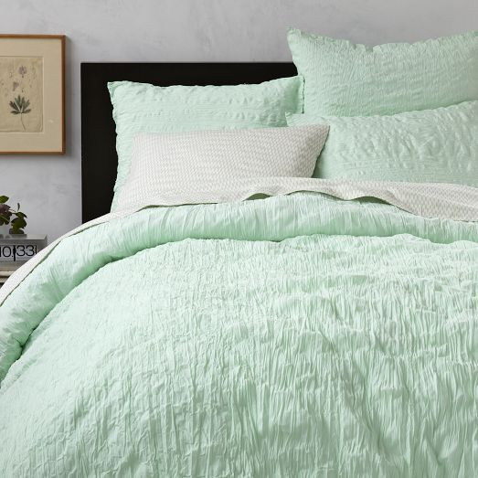 This 100 Cotton Crinkle Duvet Cover Shams Comes Twisted