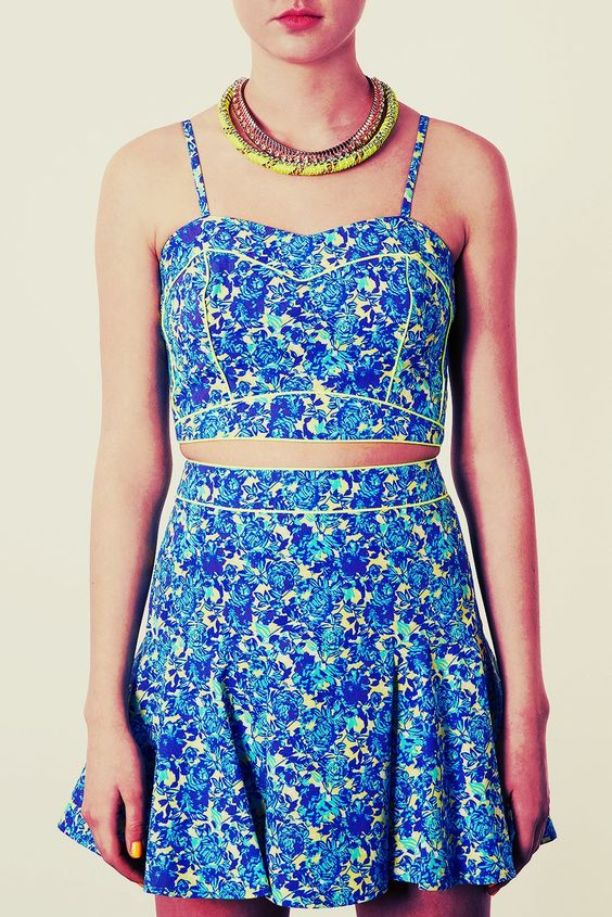 saia: Piped Outfit, Piped Crop, Floral Piped, Crop Tops, 64 00, Topshop Crop, Topshop Floral, Spring Style