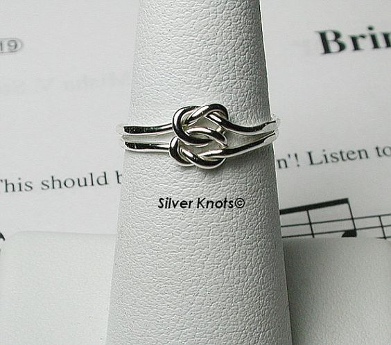 Sterling Silver Double Loveknot Ring Skinny and by silverknots, $7.99