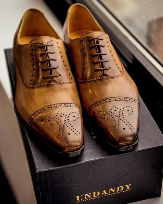 Handmade Men/'s Genuine Brown Suede Lace Up Oxford Toe Cap Formal Shoes