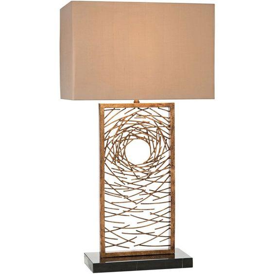 John Richard Vortex Antique Gold Iron Table Lamp 918 liked