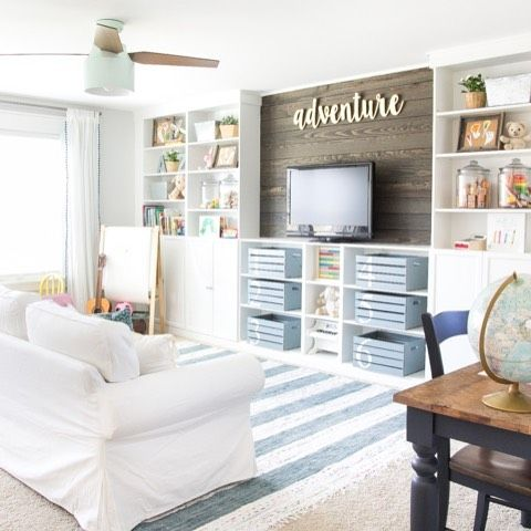 Our Playroom Makeover For The Oneroomchallenge Is Finished I Cannot Believe How Huge Of A Transformation This Was Shared Full Tou Pinteres