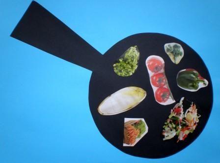pan met groente knutselen