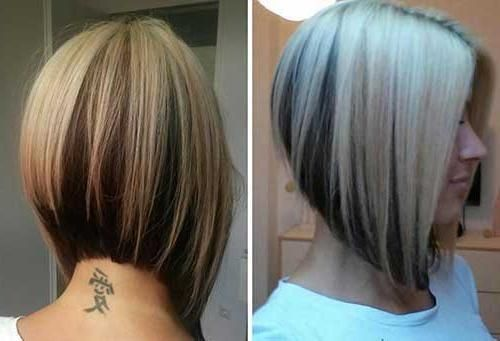 Photo Gallery Of Asymmetrical Bob Hairstyles Back View
