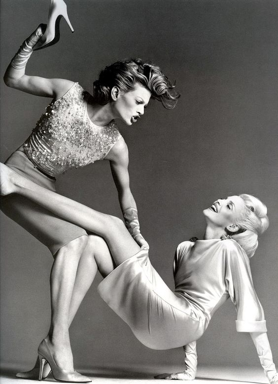 Nadja Auermann & Kristen McMenamy by Richard Avedon - Versace Campaign Spring 1995.: