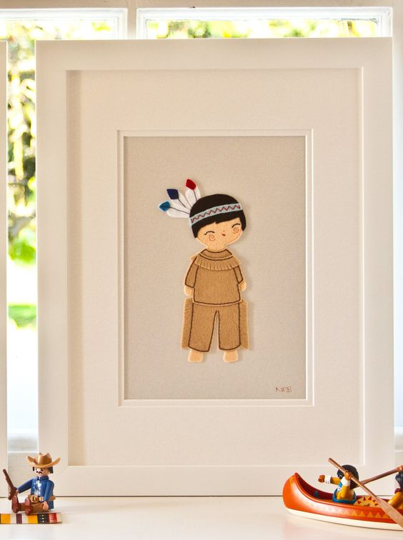 Cowboy Wall Decor Nursery : Cowboys and indians nursery wall art childrens pictures