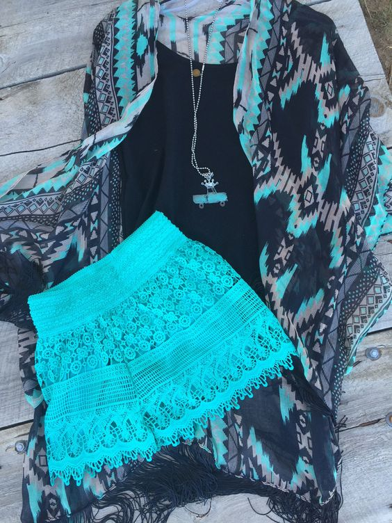 Crazy Mint Crochet shorts- shown with our mint cardigan. Small -2/4 medium 6/8 large 10/12 Classy Cowgirl Co- Gypsy Cowgirl ,Fun & Funky Western clothing, j