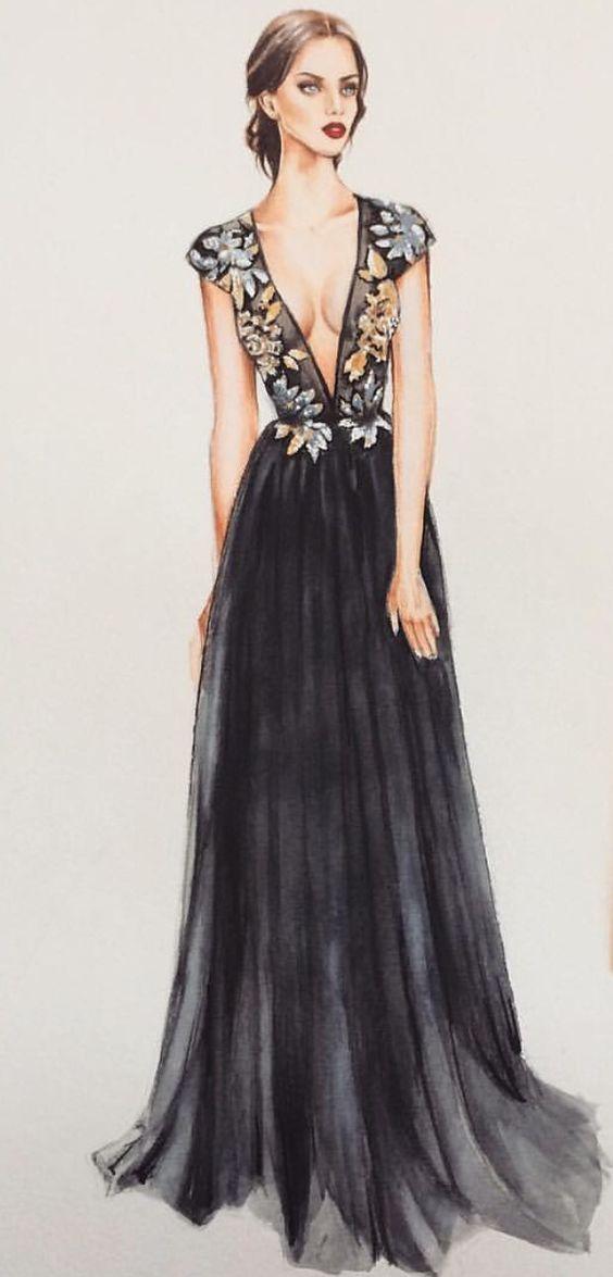Elegancia en negro.