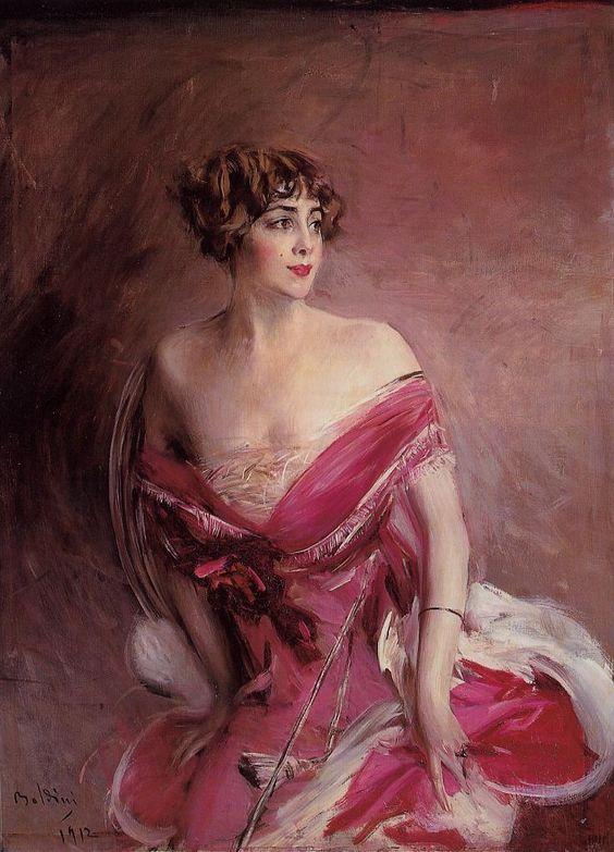 Portrait of Mlle de Gillespie (Giovanni Boldini)