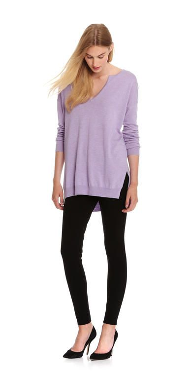Slit Neck Sweater