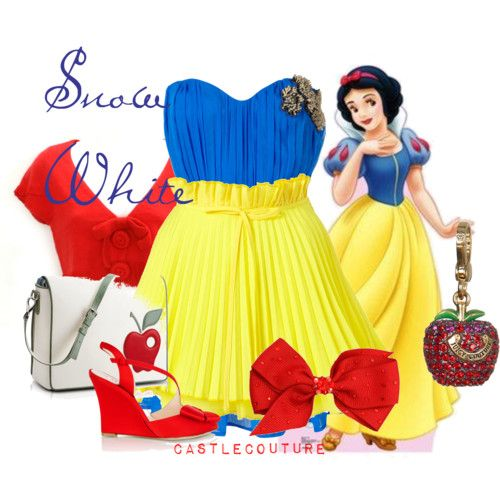 I would totally wear this dress, and I don't mean for Halloween. I love Snow White!