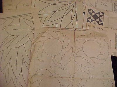 10-Vintage-ORIGINAL-Kansas-City-Star-Newspaper-30s-Quilt-Pattern-Block-LOT