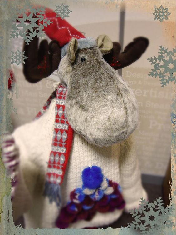 Our office reindeer took a break from his search for a new home to join Christmas Jumper Day in this fine garment.