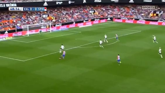 Sanabria goal and penalty incident vs Valencia (0-1)