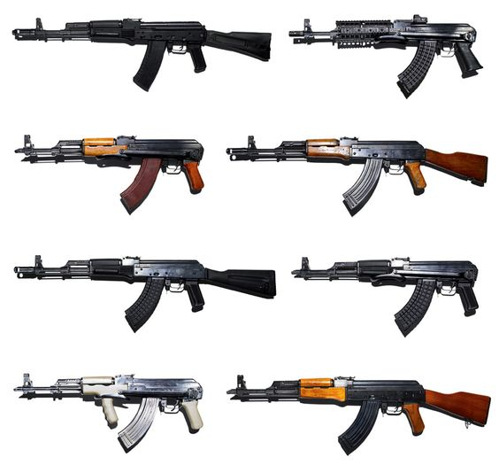 "The AKM (Russian: Автомат Калашникова Модернизированный; Avtomat Kalashnikova Modernizirovanniy or ""Kalashnikov's modernized automatic rifle"") is a 7.62mm assault rifle designed by Mikhail Kalashnikov. It is an upgraded version of the AK-47 rifle and was developed in the 1950s.:"