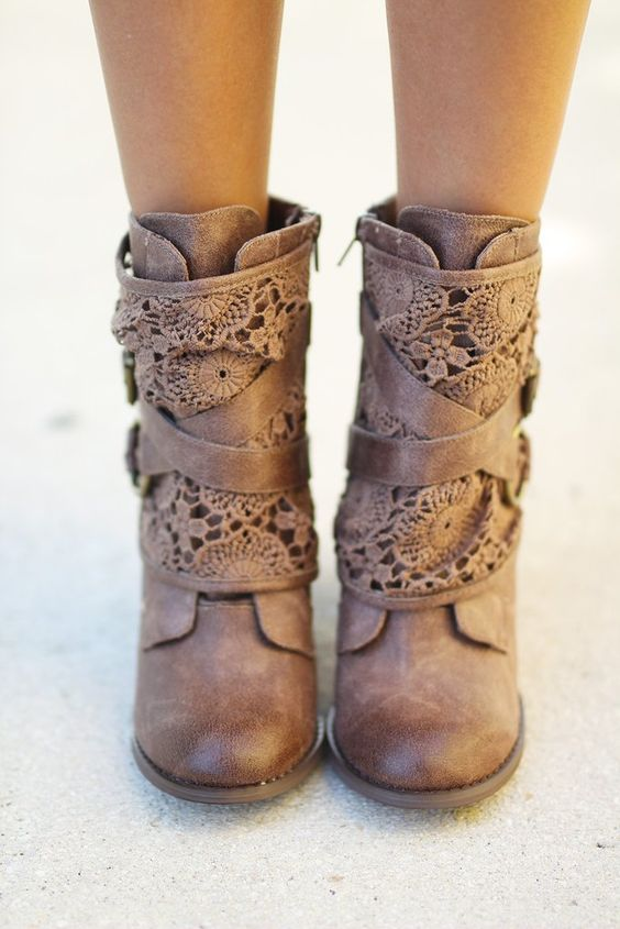 FUN & FASHIONABLE! These amazing new Crunch Time Taupe Booties are a must…