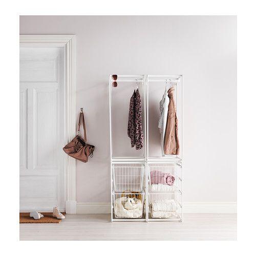 algot structure avec barre corbeilles fil ikea salle d 39 eau buanderie pinterest metals. Black Bedroom Furniture Sets. Home Design Ideas