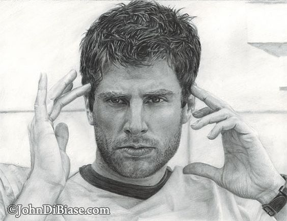 shawn spencer drawing. Psych is the best show.