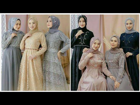 16 Model Baju Gamis Brokat Modern Pesta Pernikahan Terbaru Sekarang 2020 Youtube Pesta Pernikahan Pesta Pernikahan
