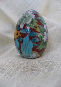 Vintage Cloisonne Egg by DelicateCreations,
