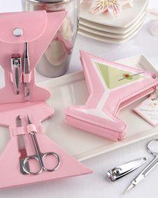 Martinis and Manicures Four-Piece Stainless-Steel Manicure Kit #wedding #weddingfavor #favor #bridal #bridalshower #babyshower #shower #gift #sale http://www.bluerainbowdesign.com/WeddingFavorProduct.aspx?ProductID=PR011711170009J0123456789XBRD98106