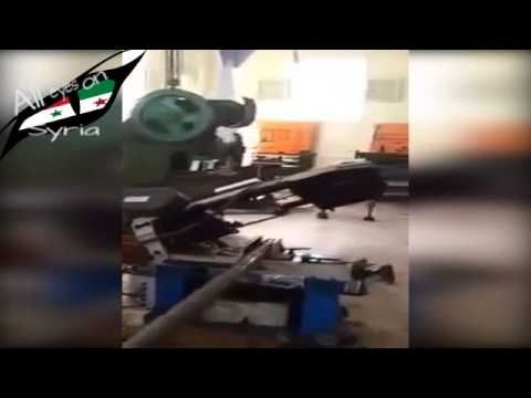 Chechnyan Fighter of ISIS build homemade missiles and Bombs