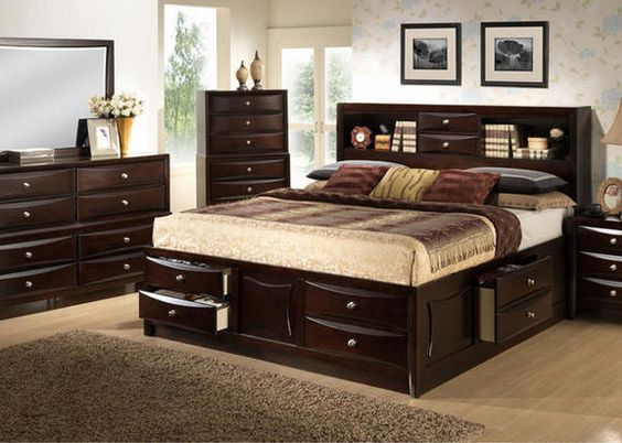Transitional style bedroom sets and queen beds on pinterest - Transitional style bedroom furniture ...