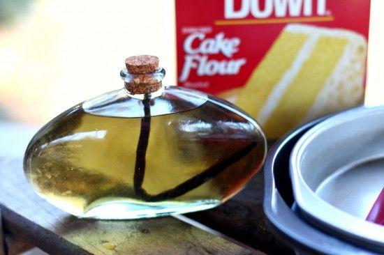 Homemade Vanilla Extract for baking.