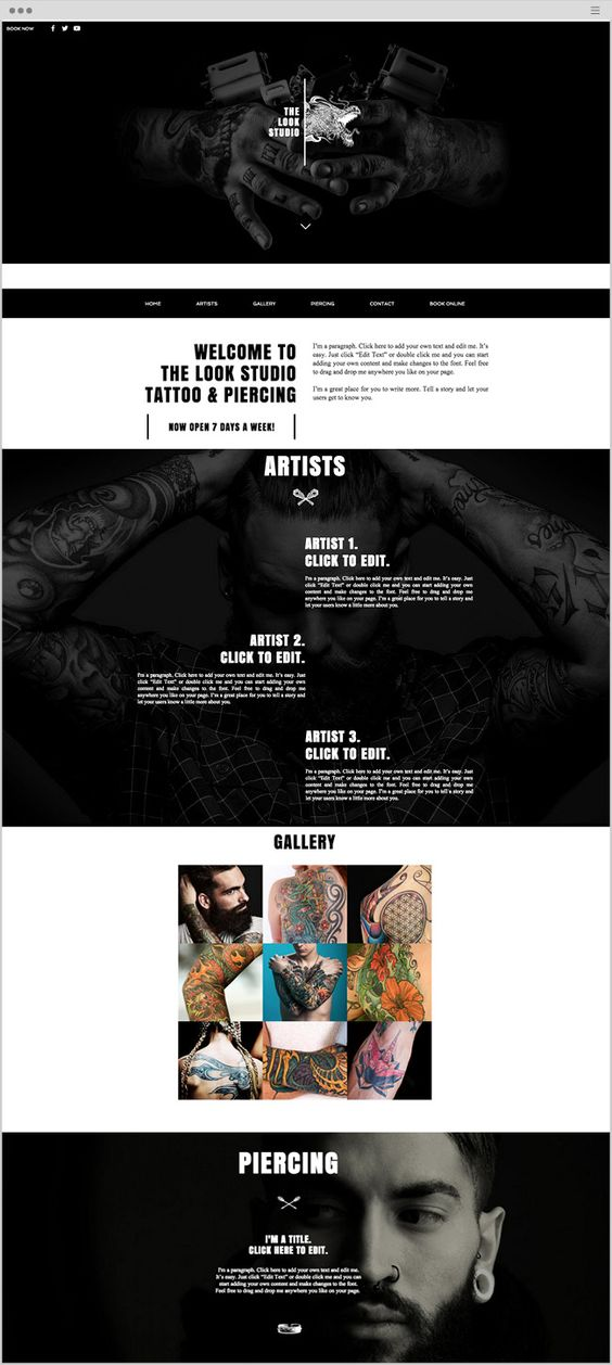 tattoo designs website template wix website templates pinterest beautiful make your and. Black Bedroom Furniture Sets. Home Design Ideas