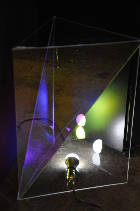 Light Up Side Table By Sarah Pinchock, 2012 #transparent #radiant  #reflective