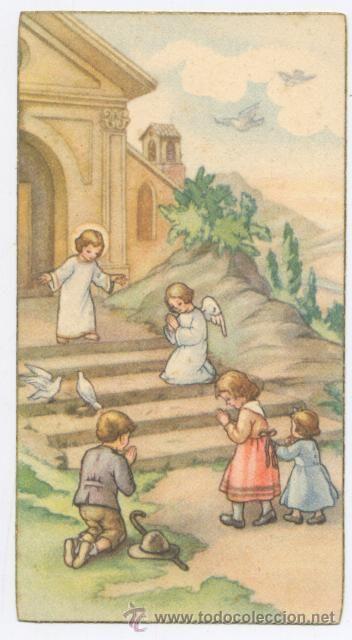 RECORDATORIO COMUNION - CAPILLA ORATORIO - VALENCIA 1945 (Postales - Religiosas y Recordatorios)