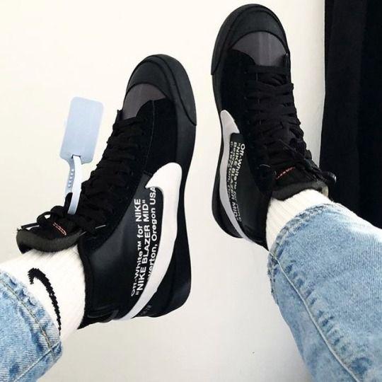 Off White X Nike Blazer Grim Reaper Sneakers Men Fashion Sneakers Fashion Nike Blazer