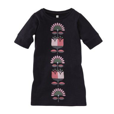 \Tea Collection Girls Finn Flora Shift Dress: Clothing