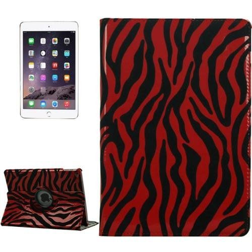 For+iPad+Air+2+/+iPad+6+Purple+Red+Pattern+360°+Rotation+Leather+Case+with+3+Gears+Holder