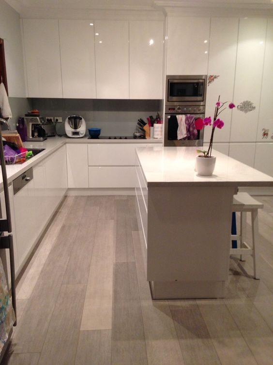 Laminate flooring island bench and see it on pinterest for Quickstep kitchen flooring