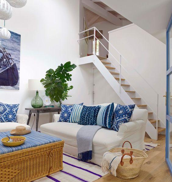 Blue And White Living Room Meli N Randolph Lovely