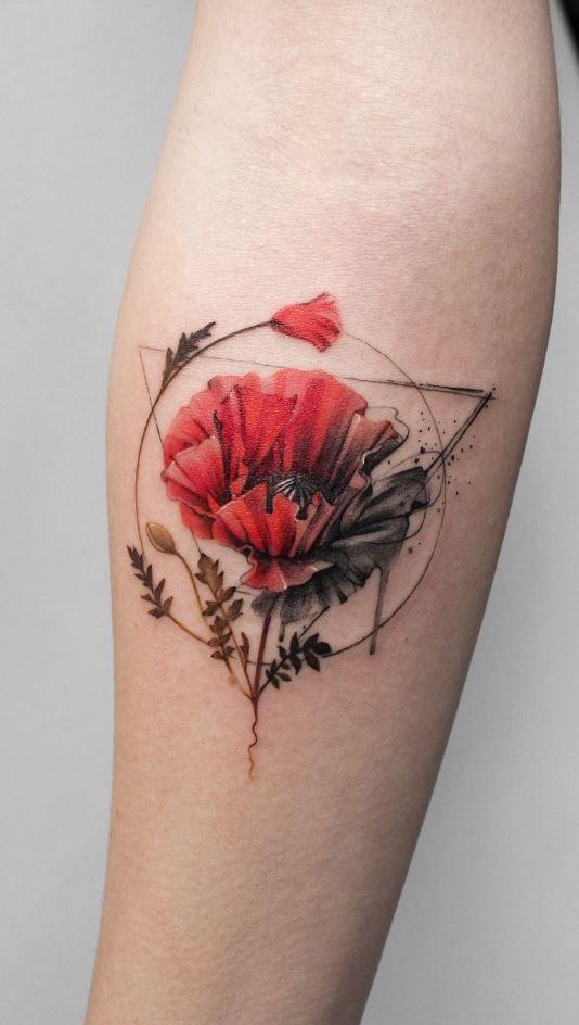 100 Best Tattoos Of All Time Thetatt In 2020 Red Flower Tattoos Tattoos Aesthetic Tattoo