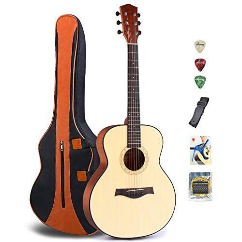 Acoustic Guitar Folk Guitar Mahogany Wood Beginner Guitar Kit First Begining Fingerstyle Little Guitar Set 36 Guitar For Beginners Guitar Kits Acoustic Guitar