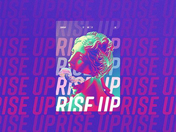 Rise Up Statue Design Graphic Design Trends Graphic Design