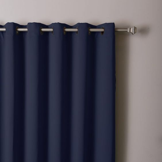 Extra Wide Width Blackout Thermal Single Curtain Panel | Curtains ...