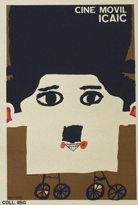 Cuban posters: E. Muñoz Bachs, Mobile cinema, 1969