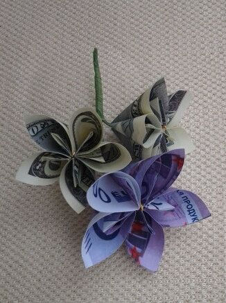 Images Money Flower Origami