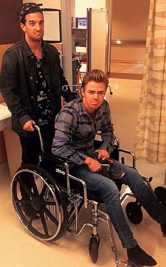 Oh No! Derek Hough Heads to Hospital After Dancing With the Stars Injury Derek Hough, Mark Ballas